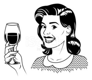 34513150-retro-woman-with-wine